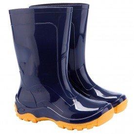 Bota galocha azul borracha impermeavel infantil Arkuero para chuva Crianca