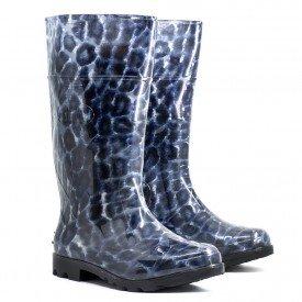 Bota galocha onca a oncinha bota feminina arkuero Azul