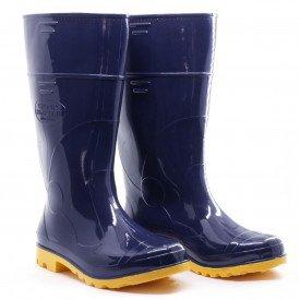 bota azul amarela borracha pvc galocha