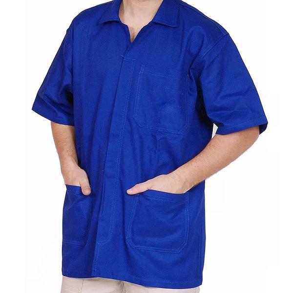 guarda po azul manga curta