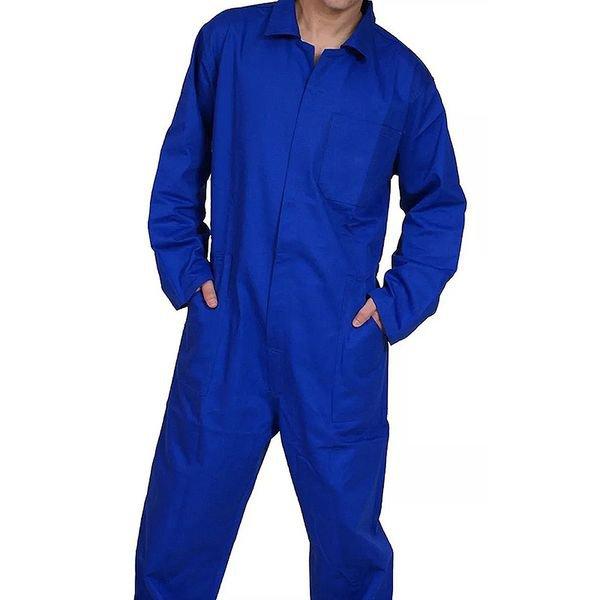 macaca o industrial azul manga longa