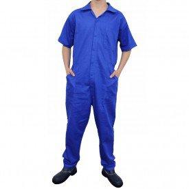 kit 3 macaco mecnico para trabalho manga curta azul