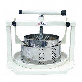 Prensa para queijo fabrica forma redonda inox Zatti Arkuero