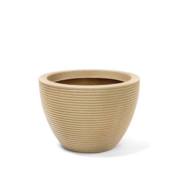 vaso riscatto oval baixo areia