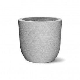 vaso grafiato redondo cinza