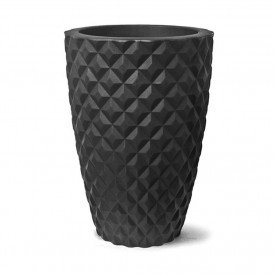 Vaso Diamante Conico_Preto