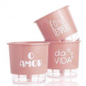 vasos n02 autoirrigavel o amor tempero rosa