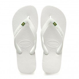 chinelos sandalia havaianas brasil branco