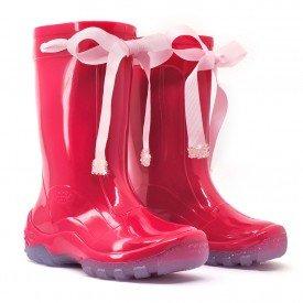 bota galocha infantil fita lac o kids splash pink chuva impermeavel lila s 1