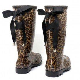 bota galocha amarra lac o preto feminina onc a chuva impermeavel marrom 1