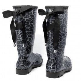 bota galocha amarra lac o preto feminina onc a chuva impermeavel marrom 3