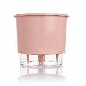 vaso autoirrigavel raiz color preto rosa gourmet 1