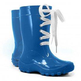 bota galocha infantil cadarc o amarra lac o kids splash pink chuva impermeavel azul lila s azul 2