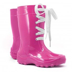 bota galocha infantil cadarc o amarra lac o kids splash pink chuva impermeavel azul lila s rosa 2