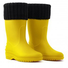 galocha bota infantil teen jovem amarelo amarela arkuero kid splash borracha impermeavel polaina