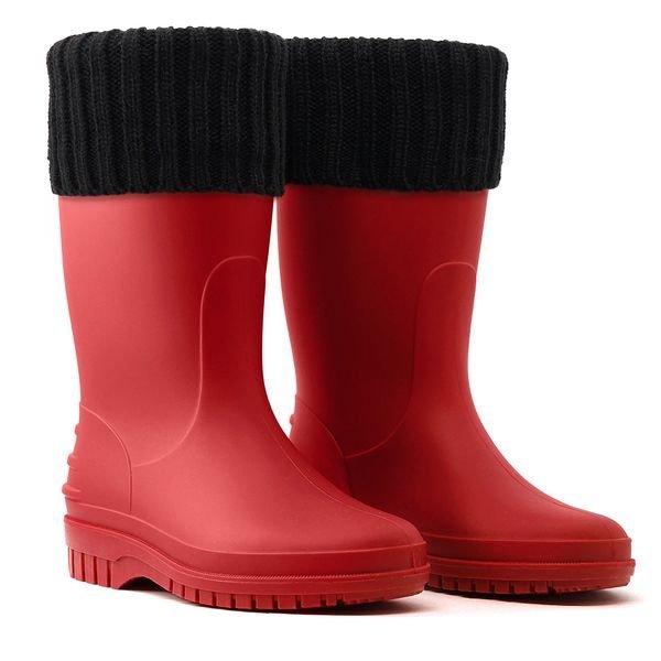 galocha bota infantil teen jovem vermelha arkuero kid splash borracha impermeavel polaina