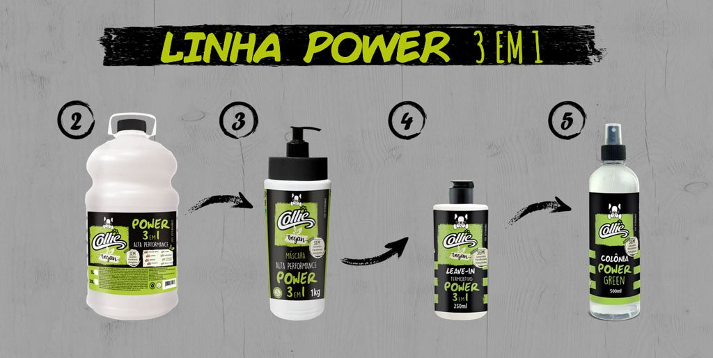 collie produtos linha power alta performance pets dog cachorro arkuero shampoo condicionador 2