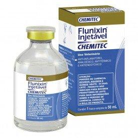 Flunixin injetavel 50 10 ml Laboratorio Animais Chemitec Arkuero